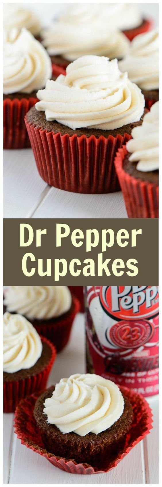 Fluffy and moist, these dr pepper cupcakes are my absolute favorite. The brown butter frosting takes them to a whole new level!   bakedbyanintrovert.com