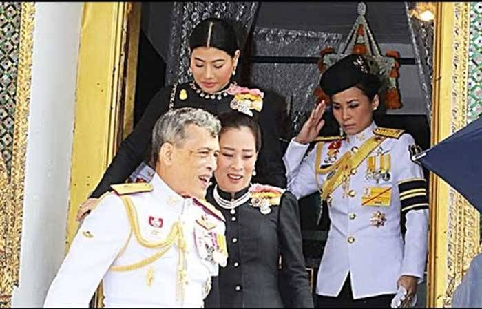 Crown Prince's mistress Suthida (Nui), a former Thai Airways flight attendant, who is expected to become his 4th wife. Nice to be a Thai Prince. What a Dy–nasty! She was appointed commander of the Crown Prince's guard in August 2014. Currently Commander of the household guard of Crown Prince Maha Vajiralongkorn, holding the rank of Lieutenant General.