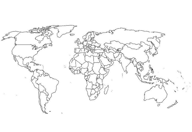 World Map Coloring Page & Coloring Book
