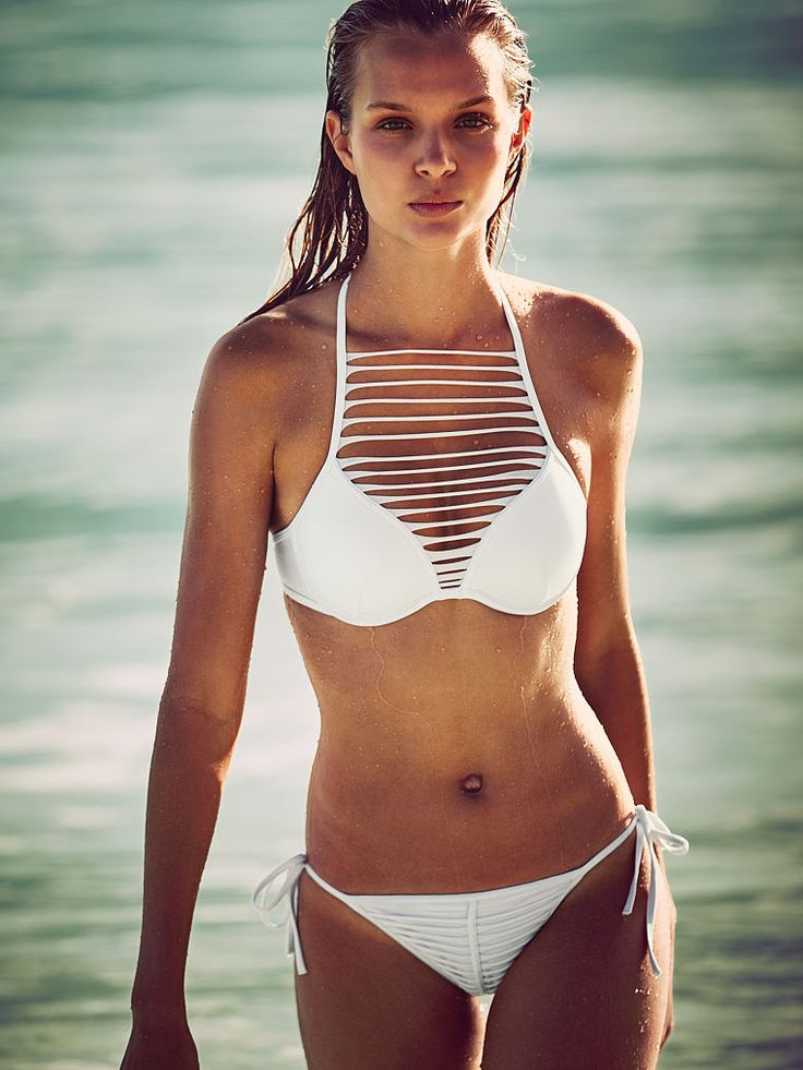 Some like it hot. We like it hotter—The Strappy Hottie Halter totally proves that. | Victoria's Secret Swim