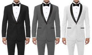Groupon - Braveman Men's Slim-Fit Shawl-Lapel Tuxedo (2-Piece). Groupon deal price: $69.99