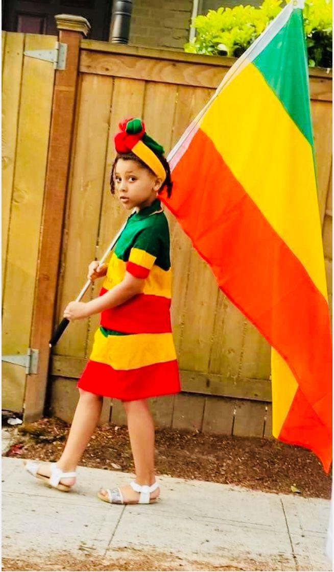Ethiopian Flag Colors Mini Shorts