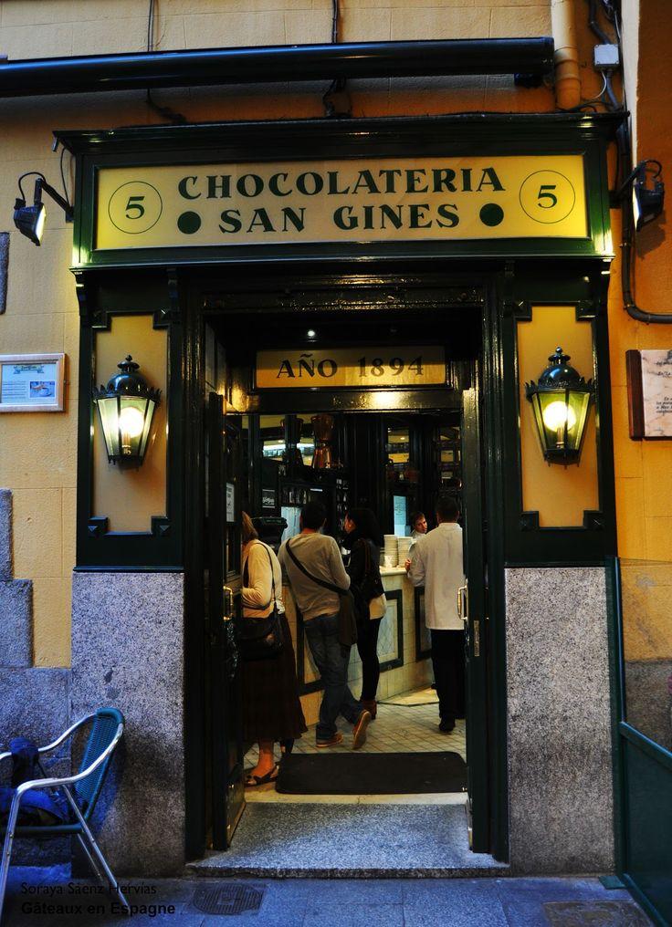 Chocolaterie / magasin de churros San Ginés à Madrid