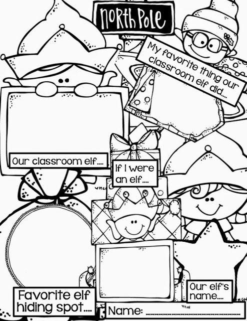 Collaborative Classroom Writing : Elf writing freebie kinderland collaborative