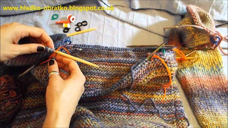 Ako štrikovať sveter vcelku 3.časť   Spájanie rukávov a tela