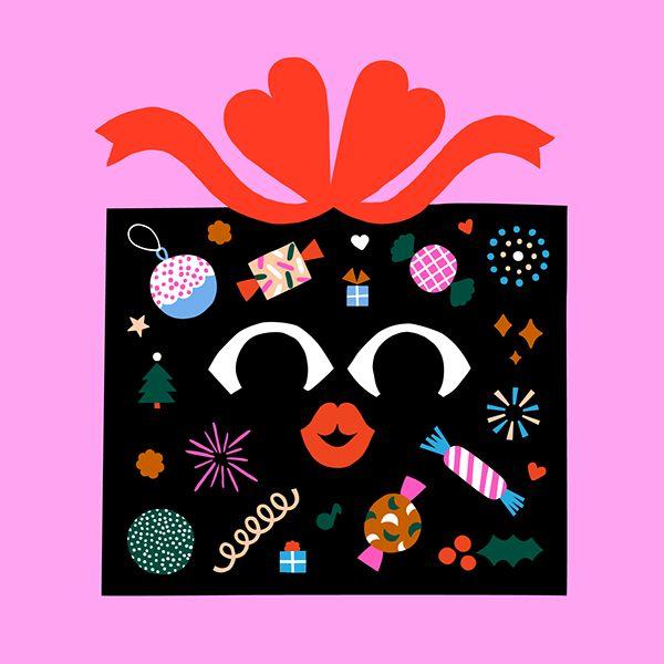 Xmas party invitation graphics for Grafia   #xmas #illustration #leenakisonen