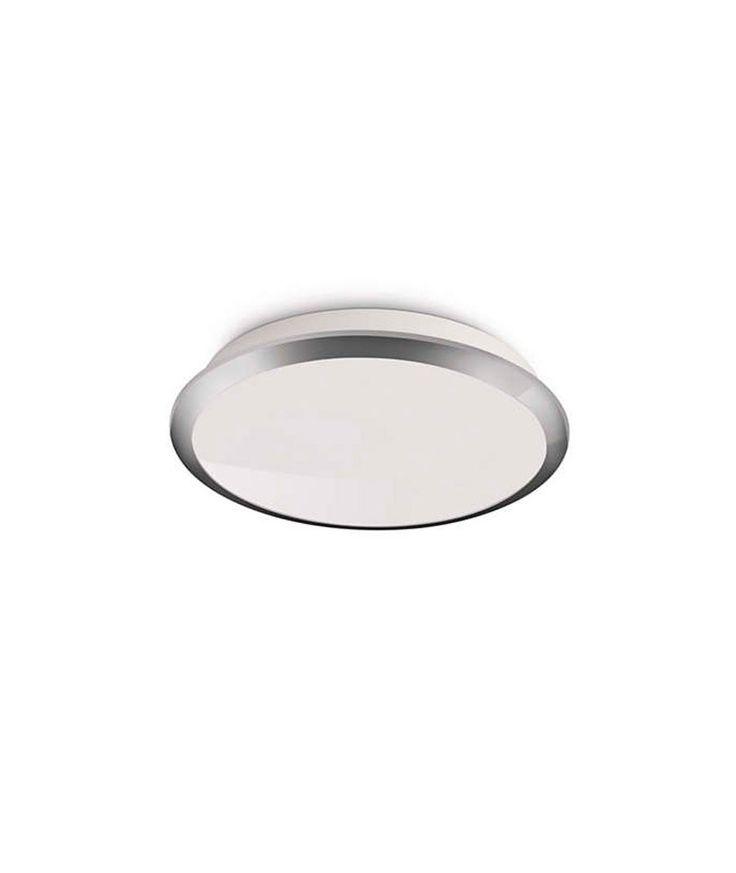 Plafón Foco LED Denim Cromado PHILIPS  Plafón Focos LED Denim Cromado PHILIPS. El aplique y plafón Philips myLiving Denim LED se puede utilizar en techos y paredes. Fabricado para ahorrar más energía que otras lámparas, la lámpara de níquel también ofrece un tiempo de funcionamiento prolongado, lo que lo convierte en una incorporación valiosa para tu hogar.