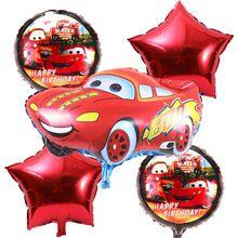 5 шт./лот Мультфильм автомобиль Фольгированные шары звезды Гелием Воздушный Шар Надувные детей классические игрушки счастливые воздушные шары День Рождения Праздничные Атрибуты(China (Mainland))