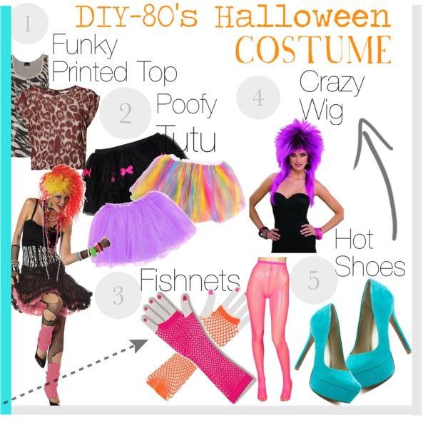 """""""DIY- Halloween Costume- 80s"""" by fashionbeauty-x on Polyvore"""