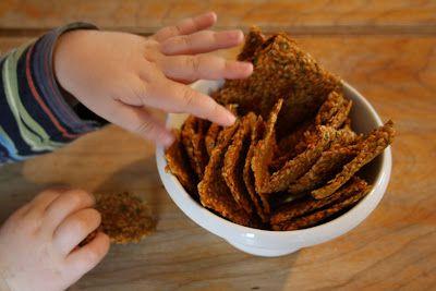 Tout Cru Dans Le Bec: Craquelins aux graines de lin et aux légumes