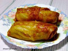 Gołąbki z ryżem. Pyszne tradycyjne gołąbki z ryżem i mięsem mielonym. Kapusta biała idealna jest do gołąbków. Jest to sprawdzony rodzinny przespis.