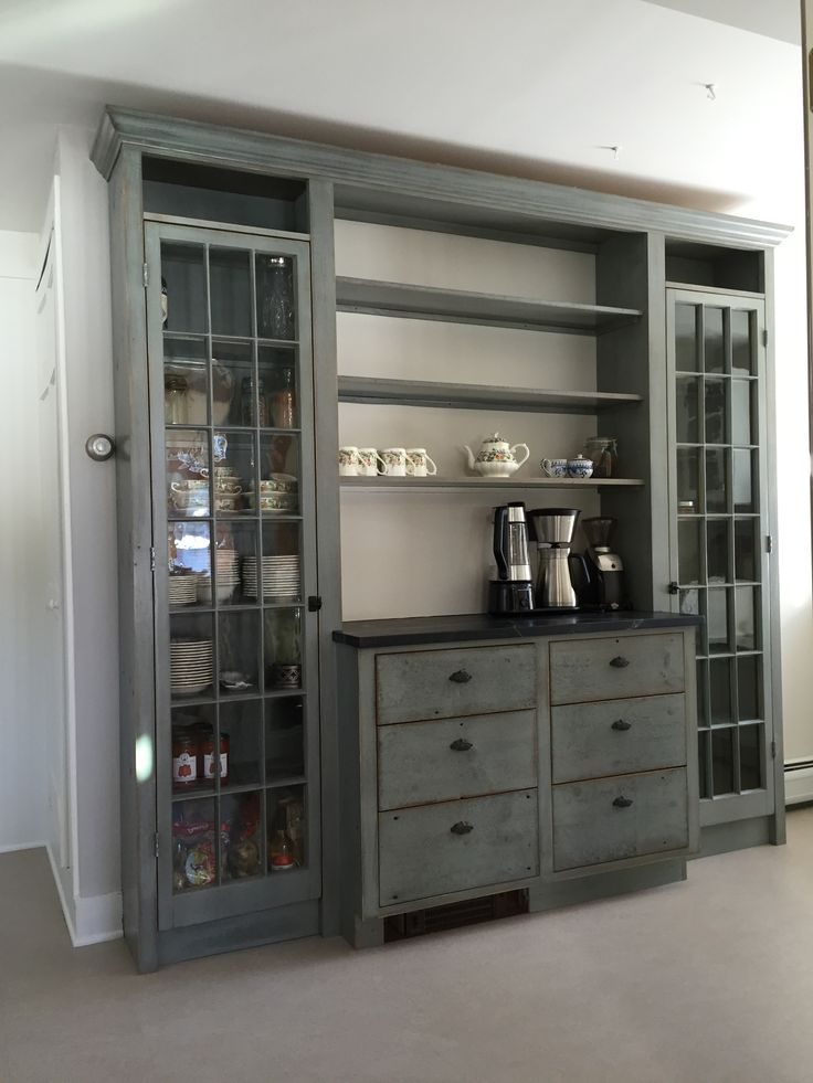Best Custom Pantry Cabinet Built With Reclaimed Wood And Doors 640 x 480
