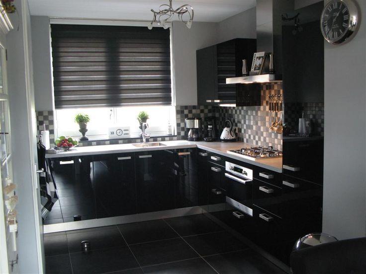 25 beste idee n over zwarte keukenapparatuur op pinterest jute keuken gordijnen zwarte - Trend schilderen keuken ...