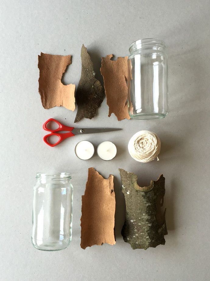 DIY Tree Bark Lanterns.. the finished product is AMAZING! (Via @FollowCharlotte)