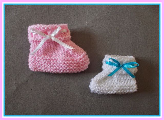 Knitting Patterns For Babies Beginners : Ribbon Bow Booties (mariannas lazy daisy days) Patterns, Preemies and ...