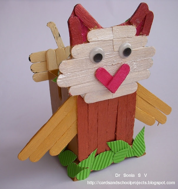 Popsicle Stick Craft Tutorial- Owl