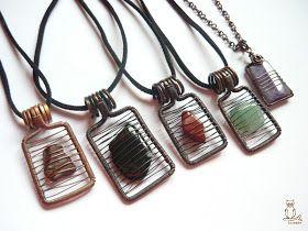 Unique wire cage for raw stones/crystals via Kricsár