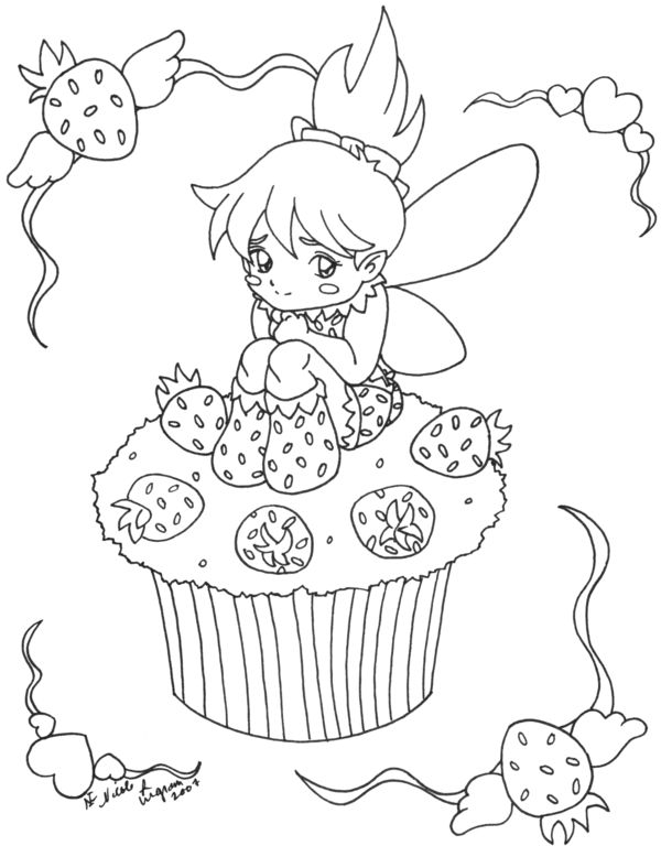 cute fairies coloring pages - photo#38