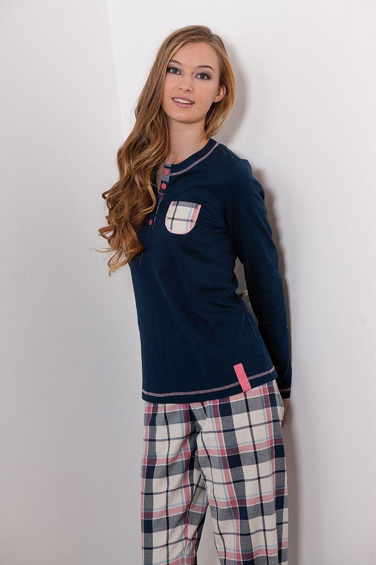 #checks #pink #pijama #sleepwear #señoretta #cuadros #rosa #navy #marino #invierno #winter