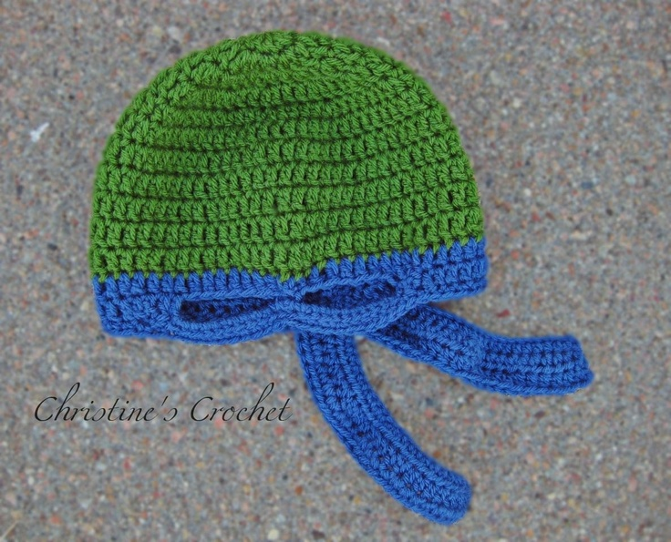 Crochet Pattern For A Turtle Hat : Crochet Ninja Turtle Hat crochet Pinterest