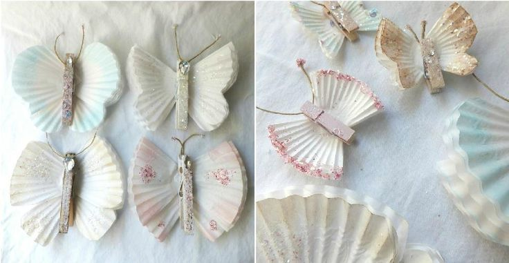 Butterfly Crafts With Cupcake Liners - http://diytag.com/butterfly-crafts-with-cupcake-liners/