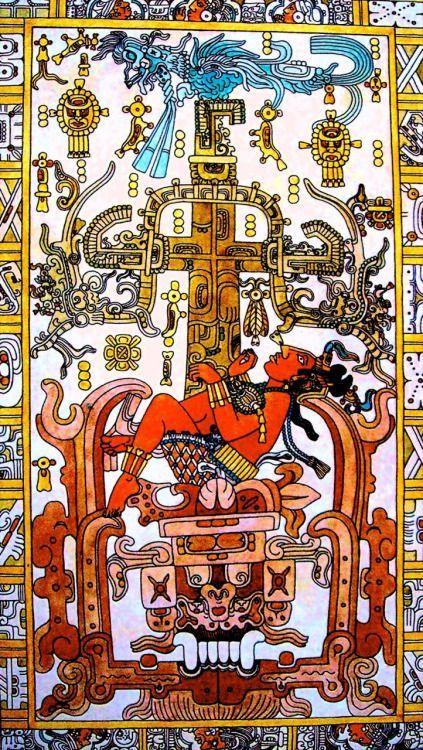 """neomexicanismos: Esta es la lápida del sarcófago de K'inich Janaab' Pakal o Pakal """"el Grande"""", gobernante del señorío maya que ahora conocemos como Palenque, en Chiapas. La tumba de Pakal fue descubie"""