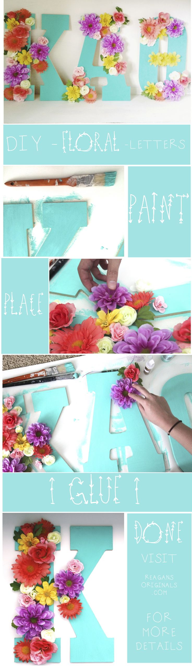 DIY Floral Letters | A Super Easy and Creative idea to make, enjoy doing it with your love ones, even kids! #pioneersettler