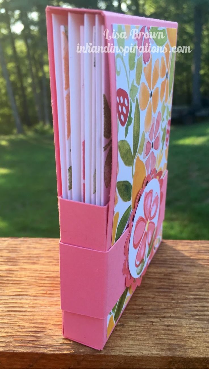 Note Card Gift Box with Stampin' Up! Fresh Fruit