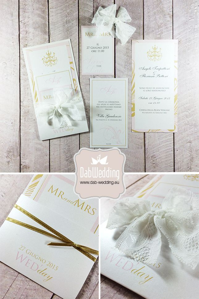 #Majestic #Favini Partecipazione nozze moderna, elegante www.dab-wedding.com