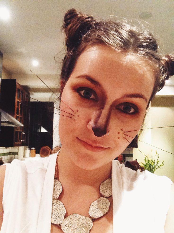 Fox makeup, hair ears!