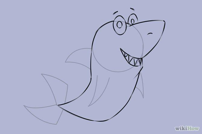Hoe teken je een #haai #tekenen #stap voor #stap How to #draw a #Shar