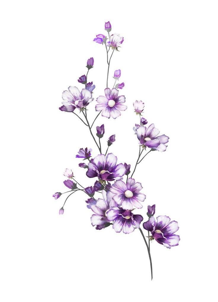 длинный цветок рисунок сделайте подливу