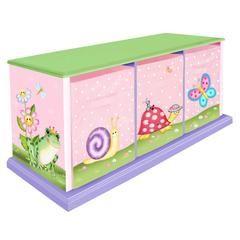 Magic Garden 3 Drawer Storage Bench