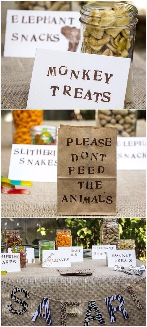 Typisches Dschungel-Essen! Diese Idee begeistert uns für unsere Safari- und Dschungel-Party zum Kindergeburtstag.  Vielen Dank dafür  Dein blog.balloonas.com  #kindergeburtstag #motto #mottoparty #balloonas #dschungel #jungle #safari #food #essen #lecker
