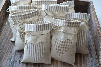 Новый год 2015 ручной работы. Ярмарка Мастеров - ручная работа. Купить Мешочки для трав или для подарков (лен + полулен). Handmade.