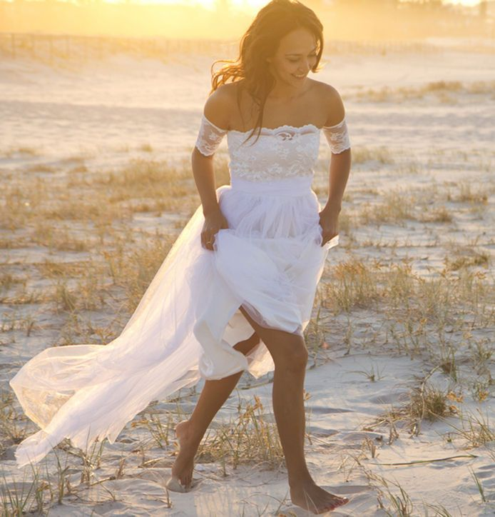 Grace Loves Lace off-the-shoulder wedding dress