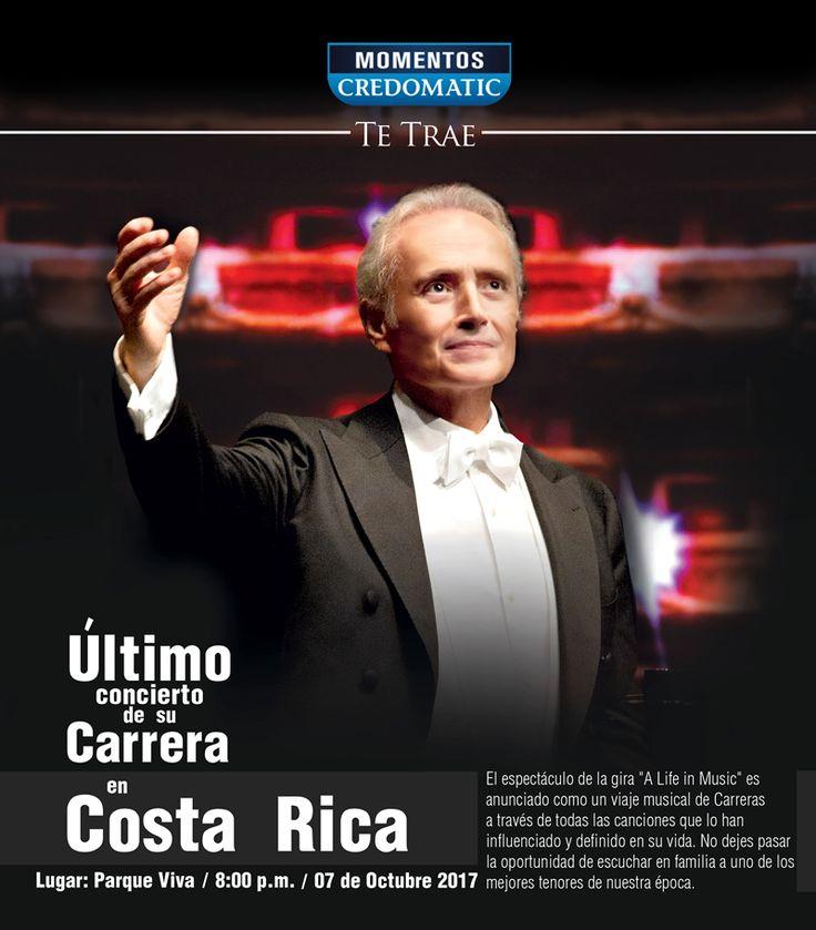 El concierto de José Carreras en Costa Rica se engalana con la orquesta Sinfónica Nacional quien acompañará al tenor en su presentación. adondeirhoy.com la pagina web #1 en eventos y conciertos. #conciertos #costarica #conciertoscostarica #adondeirhoy #estoespuravida #concierto #vivilamusica #puravida #SiguelaMusica #SigueLaMúsica #aguilasarriba #ALifeinMusic #FinalWorldTour