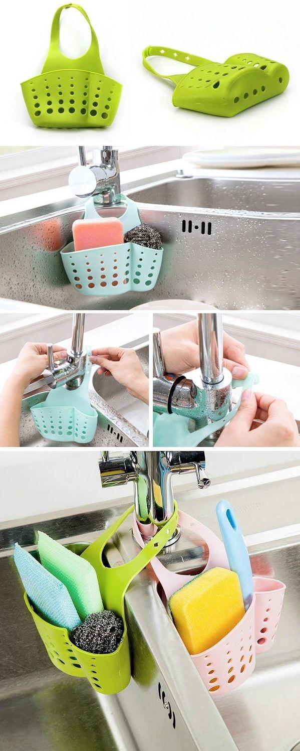 US$3.35 Kitchen Portable Hanging Drain Bag Basket Bath Storage Gadget Tools Sink Holder