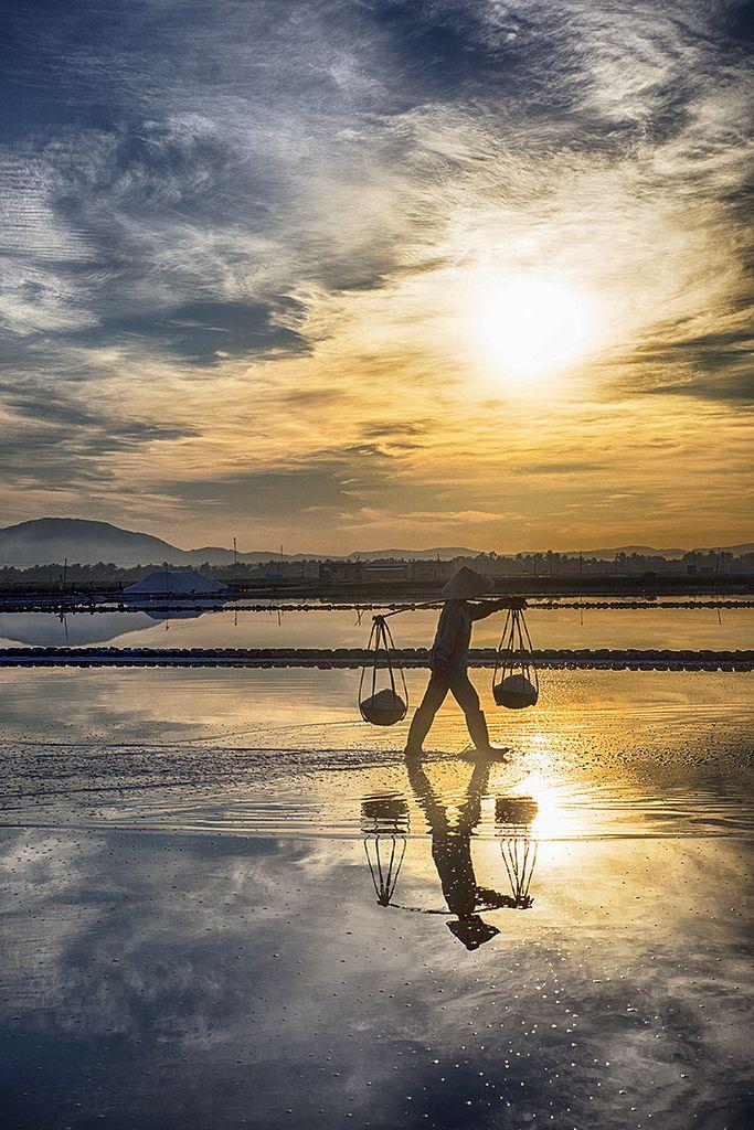 Salt fields, Hon Khoi, Vietnam