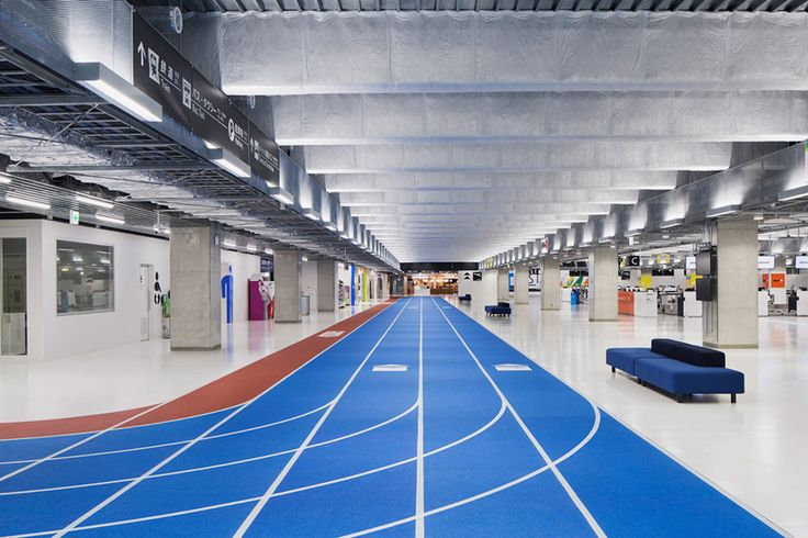 Ahead of the 2020 Summer Olympics, Tokyo's Narita Airport has been redesigned with a track and field theme.