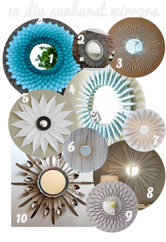 10 DIY sunburst mirrors - The Jolly James' is included!