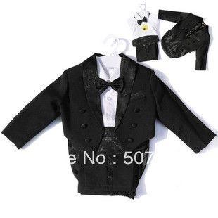 Мальчик смокинг костюмы для мальчиков формальный комплект платье ребенок костюм 5 шт. комплект детей пиджаки мальчиков одежда пиджаки белый черный 1-10