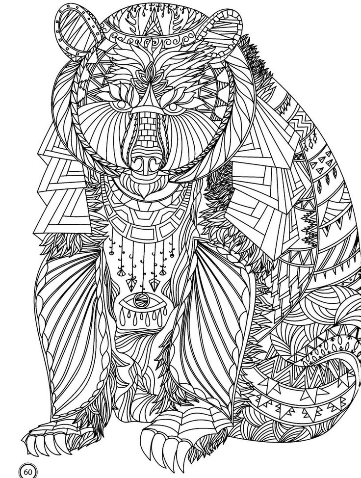 59 best Wild Animals/Adult Colouring! images on Pinterest ...