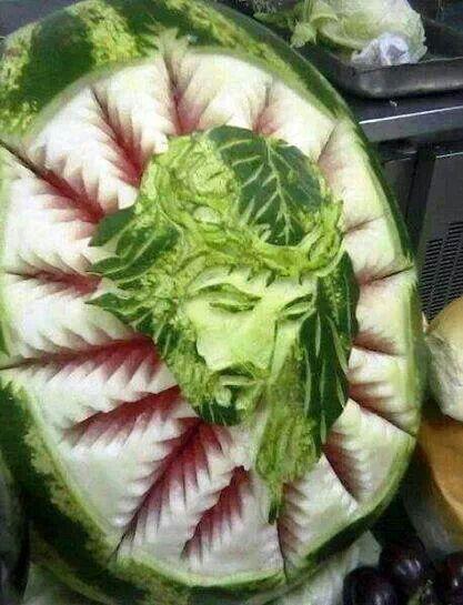 Watermelon carvings creative food carving designs