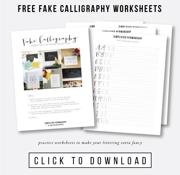 Best fake calligraphy ideas on pinterest