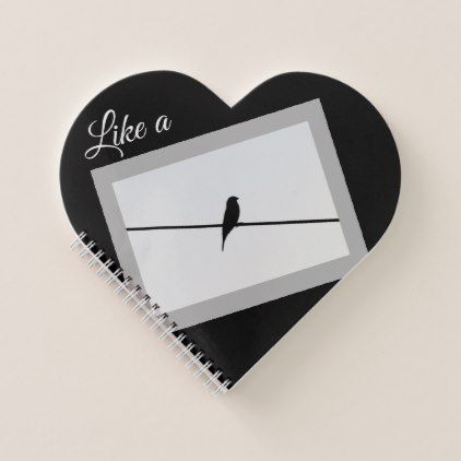 Like a Bird on A Wire - Leonard Cohen Notebook - funny quotes fun personalize unique quote