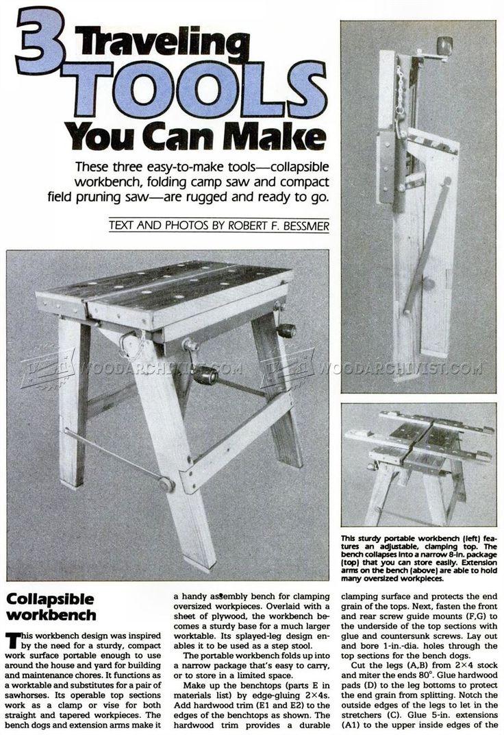 #2408 Foldable Workbench Plans - Workshop Solutions