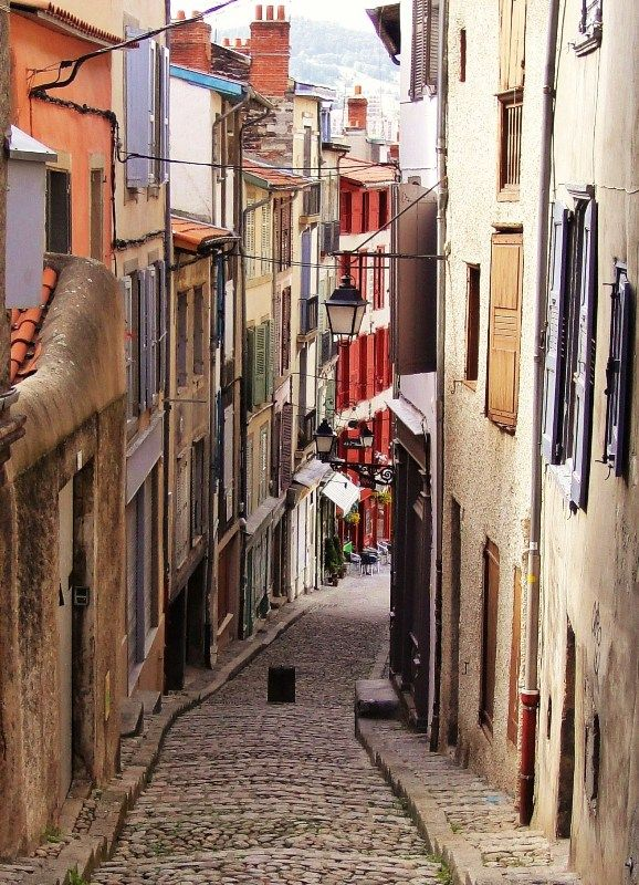 """LeAuvergne, France.   Photographer notes, """"Le Puy-en Velay is a very interesting town. Beautiful colours in beautiful streets. Walk a lot is the device.""""  Copyright: Ad De Roij.  Photograph taken, 06-02-2009."""