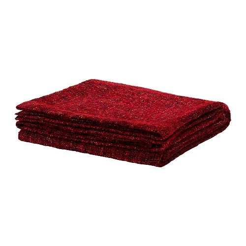 GURLI Throw IKEA $20 for end of bed in Red NB: Best range of throws in red is at Bed Bath and Table. Some are on sale. Choice of 3 or 4.  Can't pin because they don't have a website. Nearest store: Indro