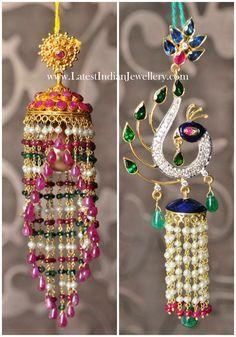 Fancy Gold Chandelier Jhumka Earrings